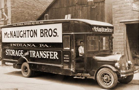 Old McNaughton Brothers Moving Truck
